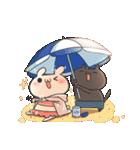 うさぎのしろとねこのくろ ぱーと7夏!(個別スタンプ:04)