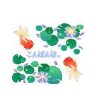 ▶動くお洒落な金魚の挨拶(個別スタンプ:03)