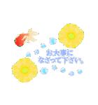▶動くお洒落な金魚の挨拶(個別スタンプ:16)