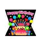 【飛び出す★お誕生日カード】おめでとう♪(個別スタンプ:02)