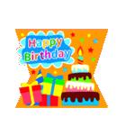 【飛び出す★お誕生日カード】おめでとう♪(個別スタンプ:10)
