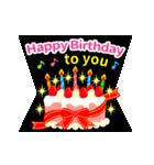 【飛び出す★お誕生日カード】おめでとう♪(個別スタンプ:21)
