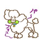 (犬)うるわしのプードル(個別スタンプ:24)