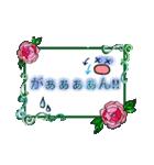 おしゃれにコメントスタンプ〜バラver〜(個別スタンプ:22)