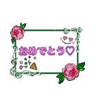 おしゃれにコメントスタンプ〜バラver〜(個別スタンプ:39)