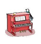 小鳥と音楽・ピアノの先生2(個別スタンプ:40)
