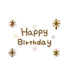 お誕生日を全力で祝う動物たち(動)(個別スタンプ:11)