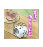 デジタルペンで描く日本の四季のたより墨絵(個別スタンプ:07)