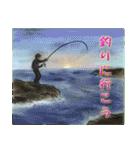 デジタルペンで描く日本の四季のたより墨絵(個別スタンプ:16)