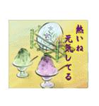 デジタルペンで描く日本の四季のたより墨絵(個別スタンプ:19)