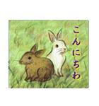 デジタルペンで描く日本の四季のたより墨絵(個別スタンプ:22)