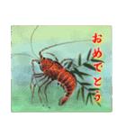 デジタルペンで描く日本の四季のたより墨絵(個別スタンプ:26)