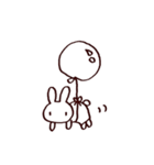 完全脱力うさちゃん(動)2(個別スタンプ:01)