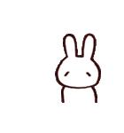完全脱力うさちゃん(動)2(個別スタンプ:10)