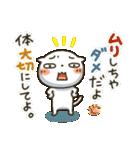 しろねこ真夏&秋パック(改訂版)(個別スタンプ:17)