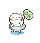 しろねこ真夏&秋パック(改訂版)(個別スタンプ:18)