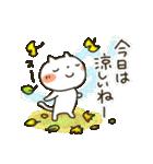 しろねこ真夏&秋パック(改訂版)(個別スタンプ:37)