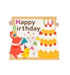 動く大人の可愛げお祝い&誕生日おめでとう(個別スタンプ:02)