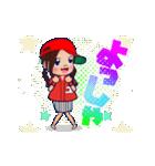 動く!頭文字「ゆ」女子専用/100%広島女子(個別スタンプ:04)