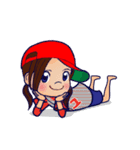 動く!頭文字「ゆ」女子専用/100%広島女子(個別スタンプ:05)