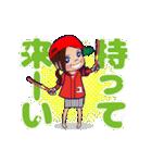 動く!頭文字「ゆ」女子専用/100%広島女子(個別スタンプ:10)