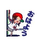 動く!頭文字「ゆ」女子専用/100%広島女子(個別スタンプ:13)
