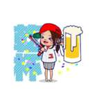 動く!頭文字「ゆ」女子専用/100%広島女子(個別スタンプ:15)