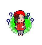 動く!頭文字「ゆ」女子専用/100%広島女子(個別スタンプ:19)