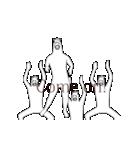 動く!RAKUGAKI馬2(個別スタンプ:10)