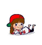 動く!頭文字「せ」女子専用/100%広島女子(個別スタンプ:5)