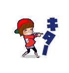 動く!頭文字「ロ」女子専用/100%広島女子(個別スタンプ:1)