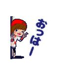 動く!頭文字「ロ」女子専用/100%広島女子(個別スタンプ:13)