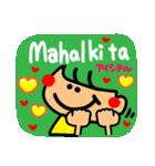 【Tagalog】大きな幸せリアクション2。(個別スタンプ:20)