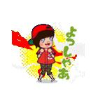 動く!頭文字「こ」女子専用/100%広島女子(個別スタンプ:17)