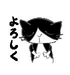 はちわれ靴下猫★日常会話★(個別スタンプ:19)