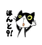 はちわれ靴下猫★日常会話★(個別スタンプ:27)