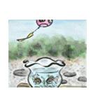 デジタルペンで描く日本の四季の風景の墨絵(個別スタンプ:04)