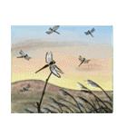 デジタルペンで描く日本の四季の風景の墨絵(個別スタンプ:06)