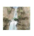 デジタルペンで描く日本の四季の風景の墨絵(個別スタンプ:10)