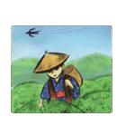 デジタルペンで描く日本の四季の風景の墨絵(個別スタンプ:13)