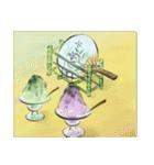 デジタルペンで描く日本の四季の風景の墨絵(個別スタンプ:19)