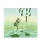 デジタルペンで描く日本の四季の風景の墨絵(個別スタンプ:20)