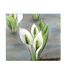 デジタルペンで描く日本の四季の風景の墨絵(個別スタンプ:21)
