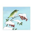 デジタルペンで描く日本の四季の風景の墨絵(個別スタンプ:23)