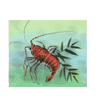 デジタルペンで描く日本の四季の風景の墨絵(個別スタンプ:26)