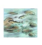 デジタルペンで描く日本の四季の風景の墨絵(個別スタンプ:29)