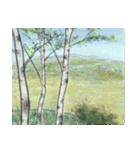 デジタルペンで描く日本の四季の風景の墨絵(個別スタンプ:30)
