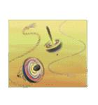 デジタルペンで描く日本の四季の風景の墨絵(個別スタンプ:32)