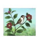デジタルペンで描く日本の四季の風景の墨絵(個別スタンプ:37)