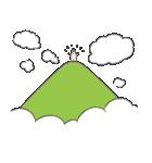 山、雲(個別スタンプ:08)